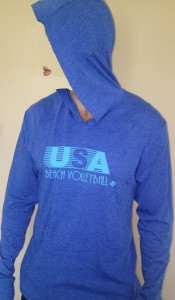 usa beach volleyball orvin hoodie in blue